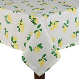🆕Kate Spade 🍋 Lemon Make Lemonade Tablecloth NWT